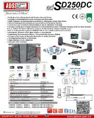 Cátalogo Abrepuertas de Garage SD250-24V.pdf, Puertas y Portones Automaticos S.A. de C.V.
