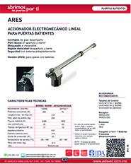 Cátalogo Erreka Ares, Puertas y Portones Automaticos S.A. de C.V.