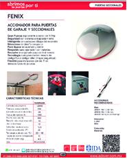 Cátalogo Erreka Fenix, Puertas y Portones Automaticos S.A. de C.V.