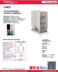 Cátalogo Erreka Lince, Puertas y Portones Automaticos S.A. de C.V.