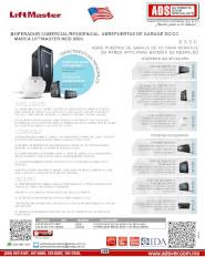 ADS Liftmaster 8500, 8500-3800 V0915.pdf, Cátalogo Abrepuertas de Garage 8500-3800 V0915, Puertas y Portones Automaticos S.A. de C.V.