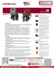 CATALOGO LIFTMASTER MODELO H, H, Puertas y Portones Automaticos S.A. de C.V.
