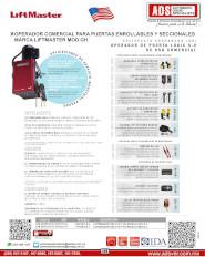 Liftmaster H V091.pdf, H, Puertas y Portones Automaticos S.A. de C.V.