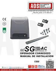 Manual de Instalacion, Manual de Instalacion Abrepuertas de Garage SG1000AC.pdf, Puertas y Portones Automaticos S.A. de C.V.