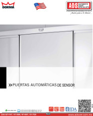 Dorma Catalogo PUERTAS AUTOMÁTICAS DE SENSOR