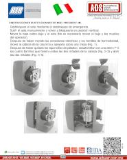 Manual de Instalacion, INSTRUCCIONES SUSTITUCION MOTOR MOD. PRESIDENT 4M, Puertas y Portones Automaticos S.A. de C.V.