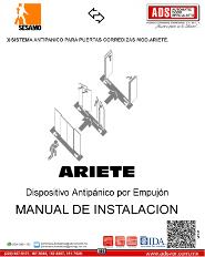 MANUAL DE INSTALACION SISTEMA ANTIPANICO PARA PUERTAS CORREDIZAS MOD.ARIETE, ADS Puertas & Portones Automaticos S.A. de C.V.