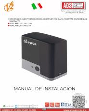 V2 MANUAL DE INSTALACION AYROS 24V.pdf, ADS Puertas y Portones Automaticos S.A. de C.V.