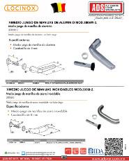 Medio Juego de Manijas de Aluminio MOD.3006M-2