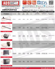 Cátalogo General Dítec, ADS Puertas y Portones Automaticos S.A. de C.V.