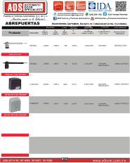 Catalogo General PPA, ADS Puertas y Portones Automaticos S.A. de C.V.