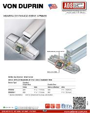 VON DUPRIN, Catalogo, Barra de Panico Serie XP98/99