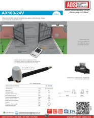AX100-24V, AX100-24V.pdf, Catalogo AX100-24V ALLMATIC, ADS, ADS ALLMATIC, Puertas y Portones Automaticos S.A. de C.V.