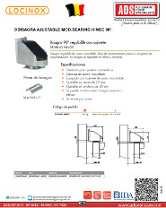 Bisagra Ajustable 90° Bearing Hinge