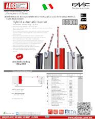 Catalogo Barrera de Estacionamiento Hidraulica MOD.B680H, ADS Puertas y Portones Automaticos S.A. de C.V.