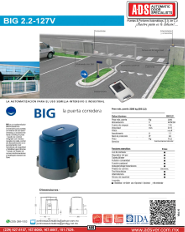 Cátalogo BIG2.2-127V, BIG2.2-127V.pdf, ADS ALLMATIC, Puertas y Portones Automaticos S.A. de C.V.