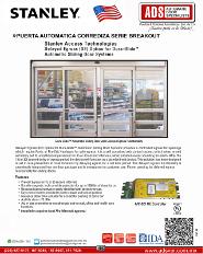 Catalogo Stanley Puerta Automatica Corrediza Serie BREAKOUT