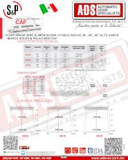 Cortina de Aire Comercial MOD.CAF, ADS Puertas & Portones Automaticos S.A. de C.V., ADS Puertas y Portones Automaticos S.A. de C.V