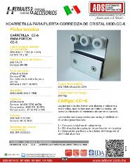 Carretilla para Puerta Corrediza de Cristal MOD.CC-6.