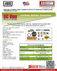 Sistema Universal Para Diferentes Marcas de Puertas Automaticas de Sensor MOD.DC ONE