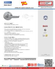 Catalogo Cerradura Cilindrica MOD.EIFEL AS G2, ADS Puertas y Portones Automaticos