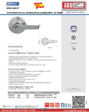 Catalogo CERRADURA CILINDRICA MANIJA MOD.EIFEL G2 70MM, ADS Puertas y Portones Automaticos