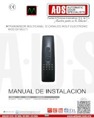 Transmisor Tipo Mechero MultiFrecuencias 3 Canales MOD.MULTI, ADS Puertas & Portones Automaticos S.A. de C.V.