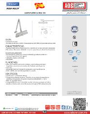 Catalogo Cierrapuertas M MOD.1604, ADS Puertas y Portones Automaticos