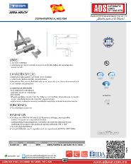 Catalogo Cierrapuertas XL MOD.7500, ADS Puertas y Portones Automaticos