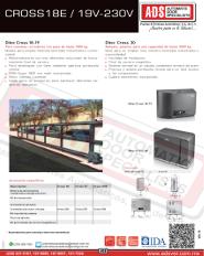 Abrepuertas Corredizo DITEC CROSS18E-19V-230V, ADS Puertas y Portones Automaticos S.A. de C.V.