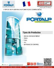 PORTALP, Catakogo TIPOS DE PUERTAS AUTOMATICAS CORREDIZAS