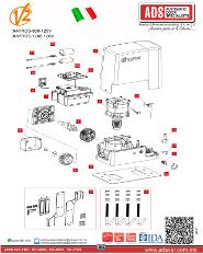 V2 Partes de Reemplazo AYROS MOD.1200-120V, ADS Puertas y Portones Automaticos S.A. de C.V.