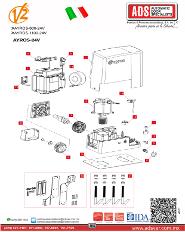 V2 Partes de Reemplazo AYROS MOD.600-24V-MOD.1000-24V