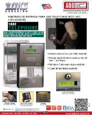 DKS Doorkin Catalogo Sistema de Entrada para 1000 Telefonos MOD.1802