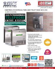 DKS Doorking, Catalogo Sistema de Entrada para 3000 Telefonos MOD.1835
