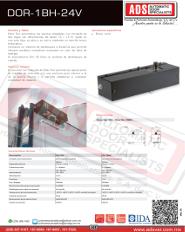 Abrepuertas Plegable DITEC DOR-1BH-24V, ADS Puertas y Portones Automaticos S.A. de C.V.