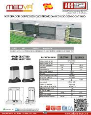 Operador Corredizo Electromecanico MOD.ELIOT, ADS Puertas & Portones Automaticos S.A. de C.V.