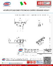 Especificaciones Tecnicas Carro GRANDE HEAVY.pdf, ADS Puertas & Portones Automaticos S.A. de C.V.