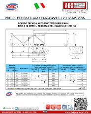 Kit de Herrajes Corredizo Cantiever 20MX2200K, ADS Puertas & Portones Automaticos S.A. de C.V.