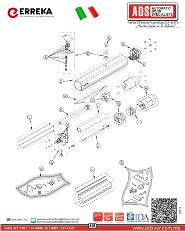 Partes de Reemplazo, Motor, Operador, Abrepuertas Erreka VULCAN, ADS Puertas y Portones Automaticos S.A. de C.V.
