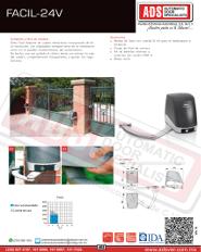 Abrepuertas Abatibles DITEC FACIL-24V, ADS Puertas y Portones Automaticos S.A. de C.V.