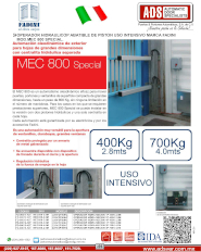 Piston Hidraulico para Puertas Abatibles MOD.MEC 800 SPECIAL