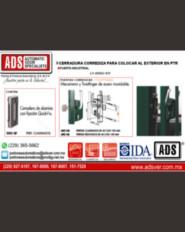 Boletín, Cerradura Corrediza para Colocar al Exterior en PTR, Puertas y Portones Automaticos S.A. de C.V.