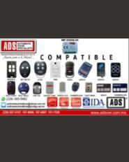 Boletín, ADS Puertas y Portones Automaticos, Transmisor MultiFrecuencia MF-00008-00, Lista de Compatibilidades
