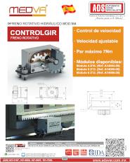 MEDVA,Freno Rotativo Hidraulico MOD.M4,  ADS Puertas & Portones Automaticos S.A. de C.V.