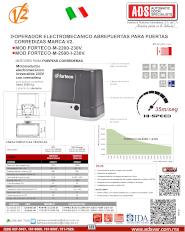 Motor para Portones Corredizos Forteco-2500, Forteco-2500-I-230V.pdf