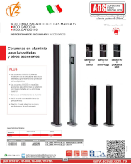 Dispositivos de Seguridad y Accesorios, Columnas de Aluminio para Fotoceldas, Gardo