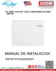 Catalogo SKYLINK ALARMA C-SIR INT.110DB, 16 SENSORES GATEWAY MOD.M1, ADS Puertas & Portones Automaticos S.A. de C.V.