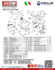 Genius, Partes de Reemplazo ROLLER 115VAC-24VDC, ADS Puertas & Portones Automaticos S.A. de C.V.