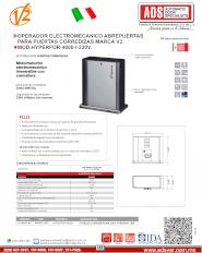 ADS Cátalogos V2, Operadores Corredizo, Operadores para Puertas Corredizas HYPERFOR-230V, HYPERFOR-230V.pdf, Puertas y Portones Automaticos S.A. de C.V.